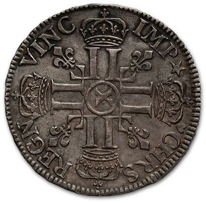 Shield with eight Ls, 1st type. 1691. Amiens. Ref. D. 1514A. Superb