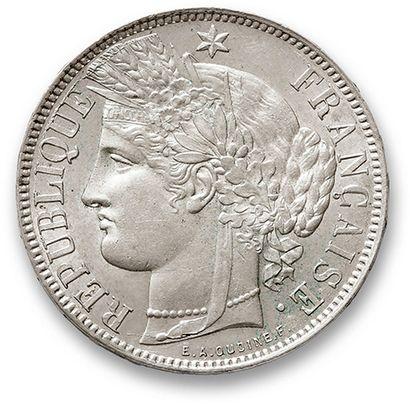 5 Francs type Cérès: 3 exemplaires. 1870A...