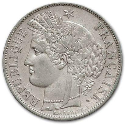 5 Francs type Cérès: 6 exemplaires. 1849A,...