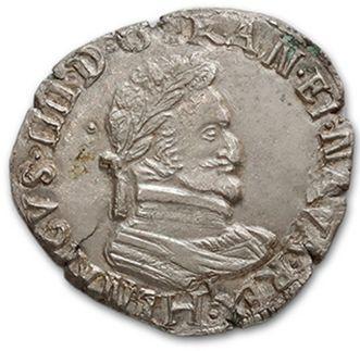 Demi franc: 4 exemplaires. 1596 Rouen, 1600...