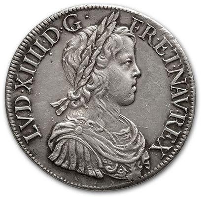 Écu à la mèche longue. 1652. Paris. D. 1469....