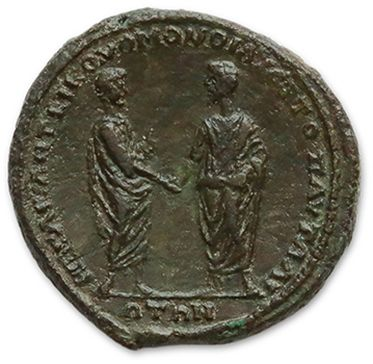 LUCIUS VERUS (161-169) Sesterce: Thracian. His head naked on the right. R/ Marcus...