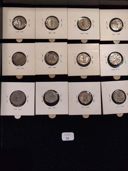 Denarius: 11 copies. Diadumenian C. 3 - Elagabalus (3 ex.) C. 92, 242 and 300 -...