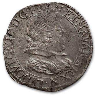 Demi franc, 10e type. 1638. Montpellier....