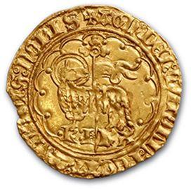 Agnel d'or (Pt 8e). 2,53 g. D. 372. Flan échancré. TTB à superbe.