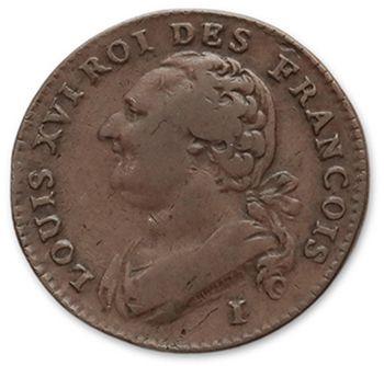 2 Sols: 3 exemplaires. 1791A, 1792I et 1792W....