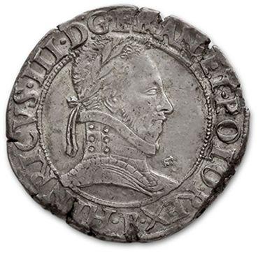 Franc au col plat. 1577. Rouen. D. 1130....
