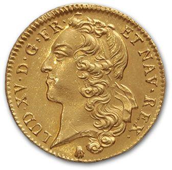 Double louis d'or au bandeau. 1745. Perpignan....