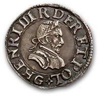 Denier tournois. 1596. Essai en argent. Laf....