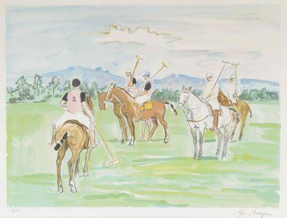 Yves BRAYER (1907-1990)  Joueurs de Polo...