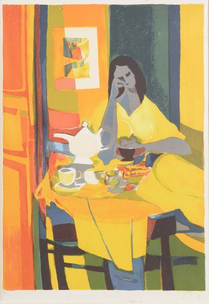 Marcel MOULY (1918-2008)  Le petit déjeuner...