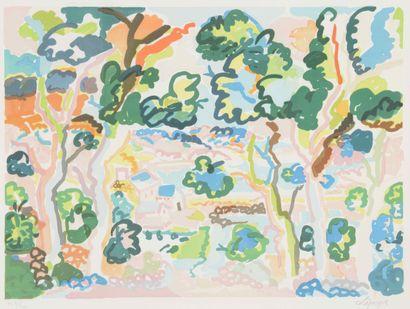 Charles LAPICQUE (1890-1988)  Paysage de...