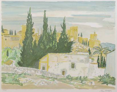 Yves BRAYER (1907-1990)  Paysage d'Espagne...
