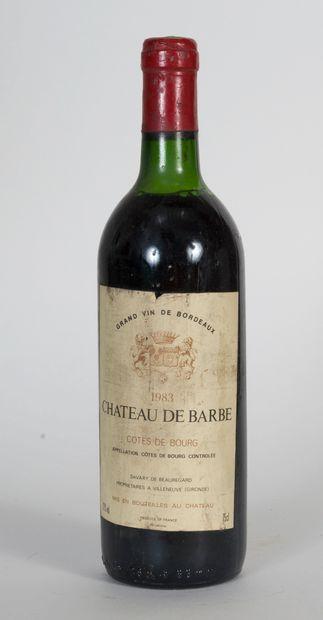 1 bouteille de Château de Barbe Côte de Bourg...