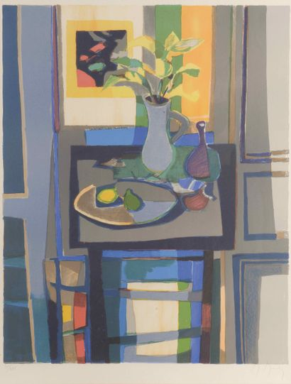 Marcel MOULY (1918-2008)  Nature morte  Lithographie...