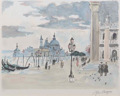 Yves BRAYER (1907-1990)  Place Saint Marc...