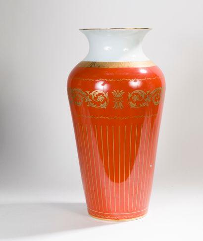 PORART-Portugal  Vase en porcelaine émaillé...