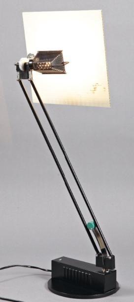 SACHA KETOFF (XXÈME SIÈCLE) Lampe de bureau, modèle «Wo» H. 70 cm