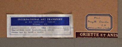 Raoul DUFY (1877-1953) Paddock - vers 1930 Gouache sur papier, signée en bas à droite...
