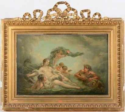 ÉCOLE FRANÇAISE du XIXe siècle, dans le goût de François BOUCHER