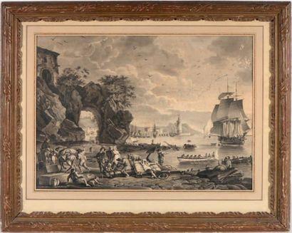 ECOLE FRANÇAISE VERS 1800, D'APRÈS JOSEPH VERNET