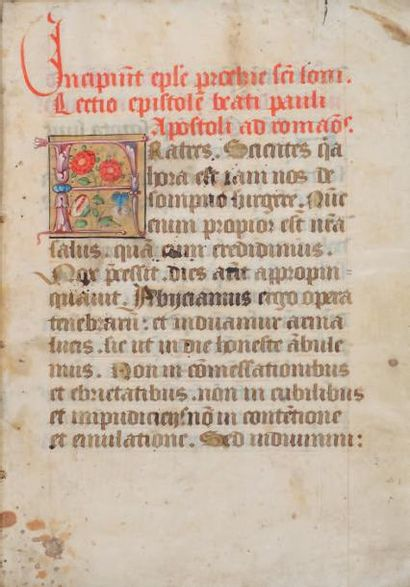 Évangéliaire & lectionnaire manuscrits sur...