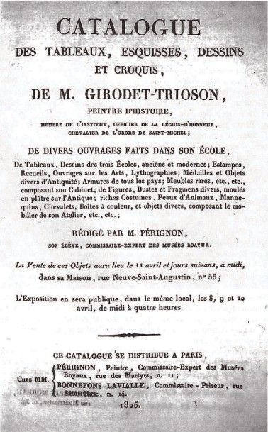 Anne-Louis GIRODET DE ROUSSY-TRIOSON (1767-1824) Capanée, Tête dite du blasphémateur...