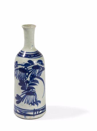 Corée. XIXème siècle  Vase bouteille en grès...