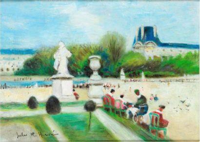 Jules René HERVE (1887-1981)  Vue du Louvre...