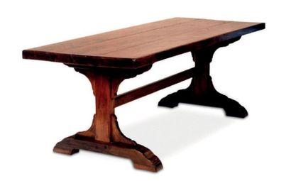 Table du Gers  En bois sculpté mouluré et...