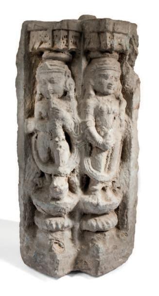 Elément d'architecture En pierre calcaire...