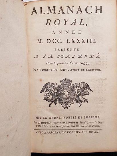 Almanach royal, année 1783. Reliure en maroquin...