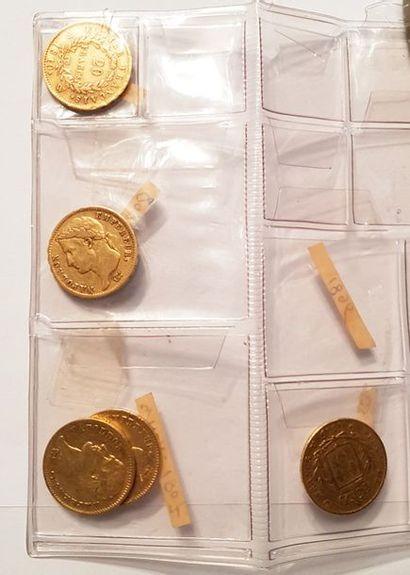 Ensemble de quatre pièces en or «Napoléon» On...