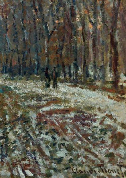 Claude MONET (1840-1926) La Promenade d'Argenteuil, un soir d'hiver, 1875. Huile...