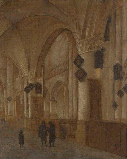 Dans le goût de Saenredam Intérieur de l'église Saint Bavon à Harleem Toile. restaurations...