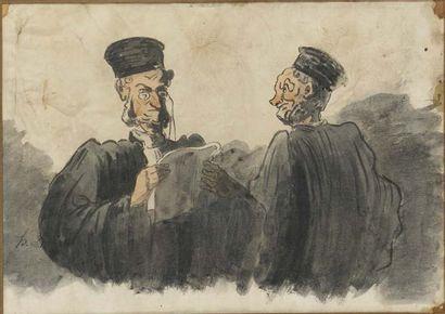 Suiveur d'Honoré Daumier (1808-1879)