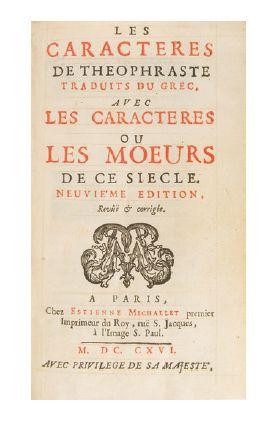 LA BRUYÈRE (Jean de).