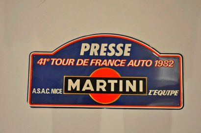 Tour de France Auto 1982. 1 plaque de rallye...