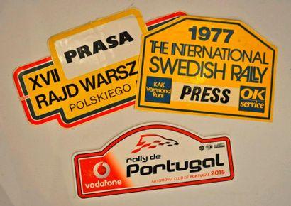 Lot de 3 plaques de rallye diverses: Rallye...