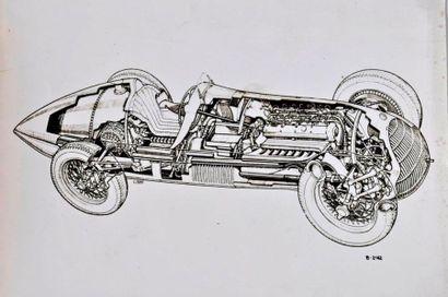 Alfa Romeo typo 158- 1938 coupé. 18 x 24...