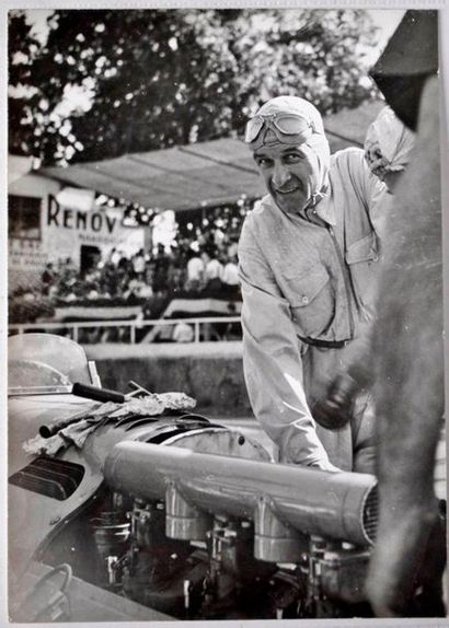 Raymond Sommer et sa Talbot 4,5L au GP d'Albi...