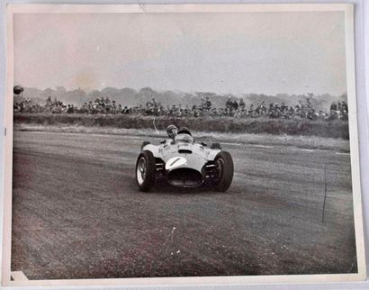FANGIO au GP d'Angleterre 1956 à Silverstone,...