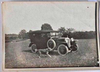 Rochet Schneider 12 hp. Photo d'époque (pliure)...