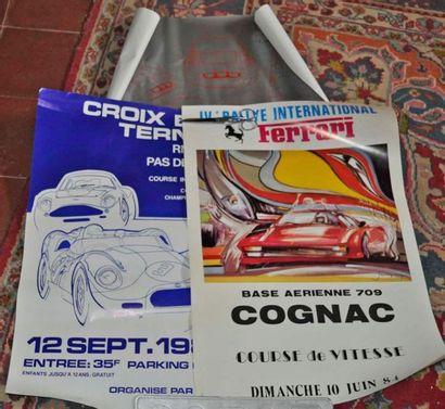 Lot de 3 affiches Ferrari: 250 GTO, Cognac...