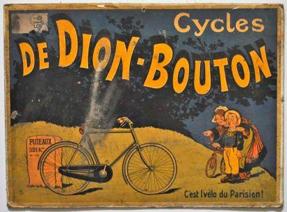 Affichette Cycles de Dion Bouton, 29x40