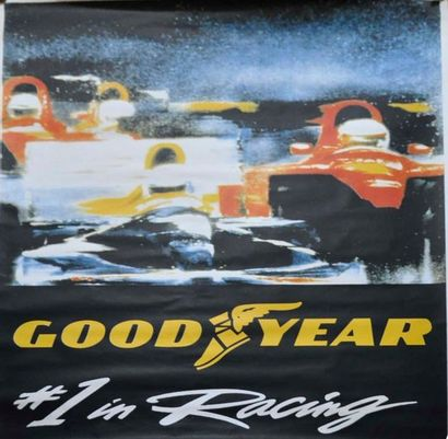 Affiche Goodyear- 1° Racing, 170x120cm +...