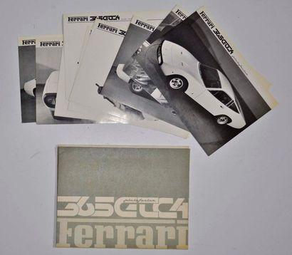 Dépliant Ferrari 365 GTC4 avec 10 planches...