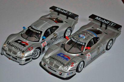 Lot de 2 maquettes Mercedes CLK Le Mans,...