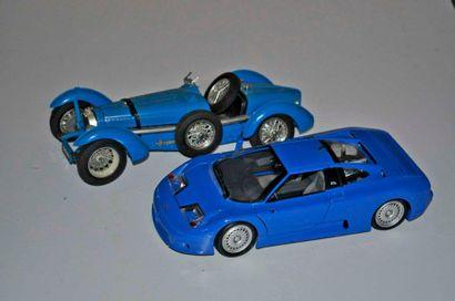 Lot de 2 maquettes BUGATTI: 59 (accidents)...