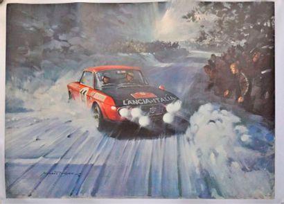 Lancia Fulvia HF au Rallye Monte Carlo par...